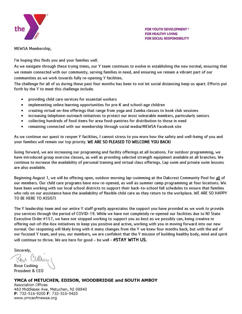 A Letter From Our President Ceo