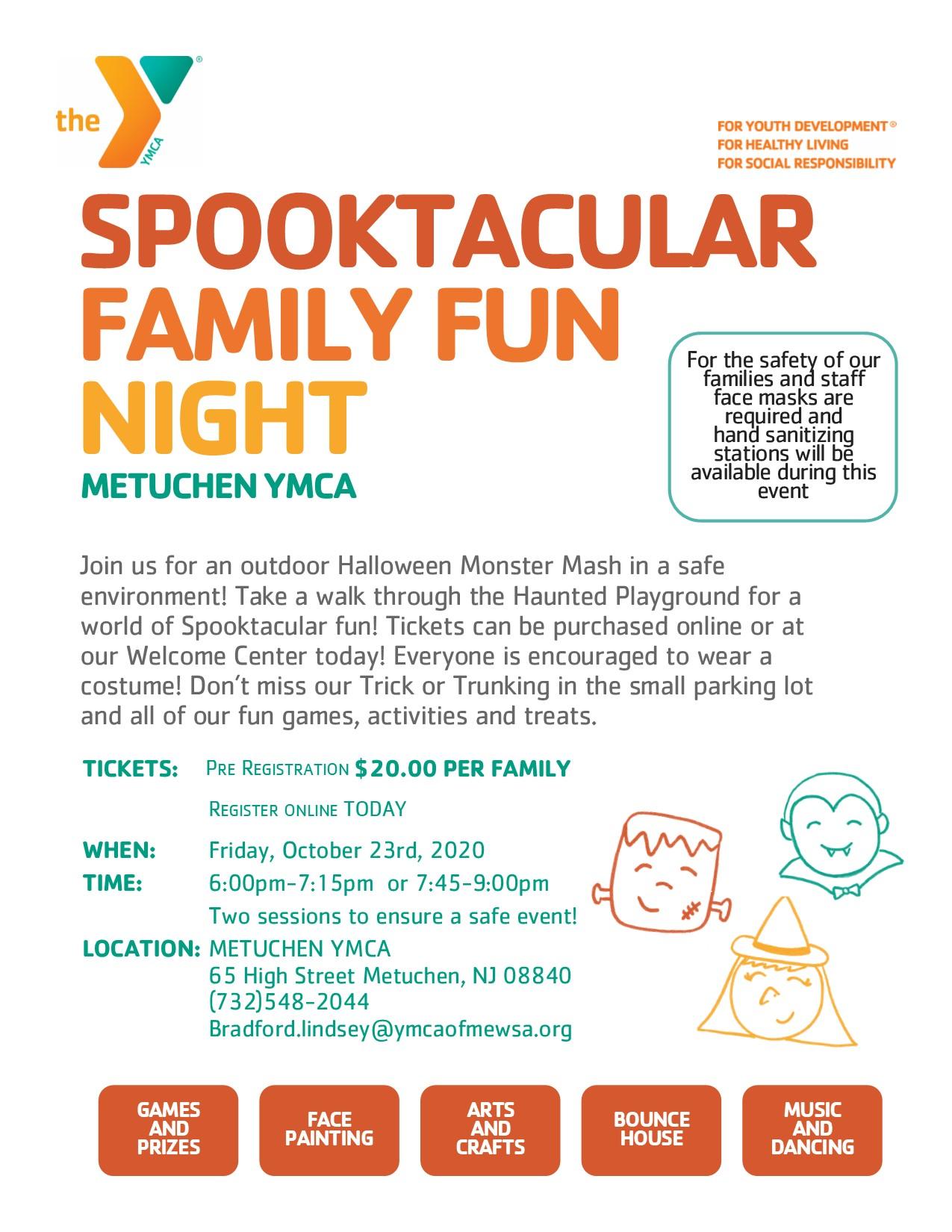 Metuchen Halloween 2020 Metuchen YMCA Spooktacular
